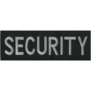 RÜCKENAUFNÄHER - Security - 08513 - Gr. ca. 30 x 9, 5 cm - Patches Stick Applikation