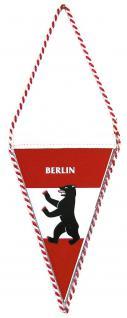 Wimpel mit beidseitigem Motivdruck - BERLIN - Gr. ca. 13 x 8 cm - 07701 - Flagge Banner Fahne
