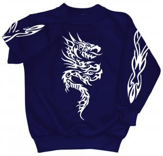 Sweatshirt mit Print - Tattoo - 09067 - versch. farben zur Wahl - blau / 4XL - Vorschau 1