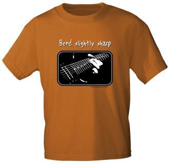T-Shirt unisex mit Print - Bend slightly sharp - von ROCK YOU MUSIC SHIRTS - 10397 dunkelorange - Gr. S
