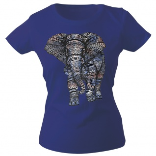 Girly-Shirt mit Print Elefant Elephant Mandala G12992 Gr. Navy / S