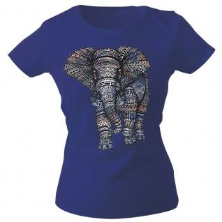 Girly-Shirt mit Print Elefant Elephant Mandala G12992 Gr. Navy / XS