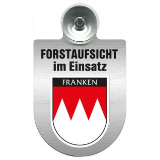 Einsatzschild Windschutzscheibe incl. Saugnapf - Forstaufsicht im Einsatz - 309377-18 - Region Franken