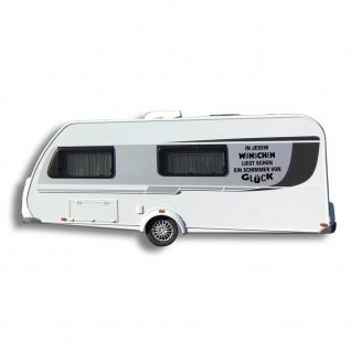 Auto-Aufkleber Wohnwagen Applikation - In jedem Wünschen liegt - AP1624 Gr. ca. 60cm x 48cm