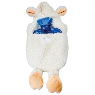 Wärmflasche Maus mit Einstickung Schneemann 34927 beige - Vorschau 3