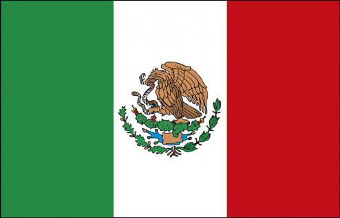 Schwenkfahne - Mexico - Gr. ca. 40x30cm - 77107 - Flagge Stockländerfahne