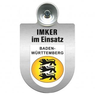 Einsatzschild mit Saugnapf Imker im Einsatz 309382 Region Baden-Württemberg