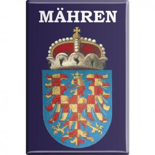 Kühlschrankmagnet - Mähren - Gr. ca. 8 x 5, 5 cm - 38105 - Küchenmagnet