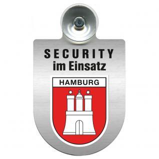 Einsatzschild Windschutzscheibe - Security im Einsatz - incl. Regionen nach Wahl - 309350 Region Hamburg
