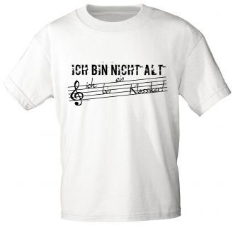 T-Shirt unisex mit Print - Ich bin nicht alt ich bin ein Klassiker - 10686 weiß - Gr. S-XXL