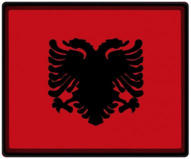 Mousepad Mauspad mit Motiv - Albanien Fahne - 82008 - Gr. ca. 24 x 20 cm
