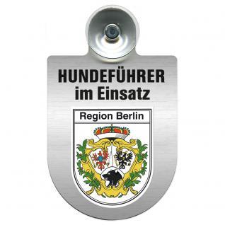 Einsatzschild Windschutzscheibe incl. Saugnapf - Hundeführer im Einsatz - 309381-1 - Region Berlin