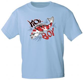 Kinder T-Shirt mit Print - KOI BOY - KO106 hellblau - Gr. 110/116