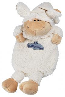 Wärmflasche Schaf Wollschäfchen mit Einstickung Ab in die Heia 39315 weiß