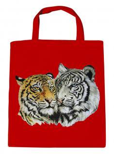 (08870/3-rot) Umweltfreundliche Baumwoll - Tasche , ca. 28 x 43 cm mit Aufdruck