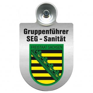 Einsatzschild Windschutzscheibe incl. Saugnapf - SEG-Sanitäter im Einsatz - 309475 Region Freistaat Sachsen