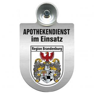 Einsatzschild Windschutzscheibe incl. Saugnapf - Apothekendienst im Einsatz - 309397-4 Region Brandenburg