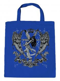 (U10898)Umweltfreundliche Baumwoll - Tasche , ca. 28 x 43 cm mit Aufdruck in 7 Farben blau