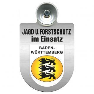 Einsatzschild für Windschutzscheibe incl. Saugnapf - Jagd + Forstschutz im Einsatz - 309729-1 Region Baden-Württemberg