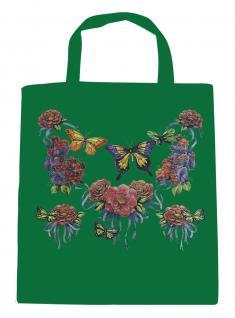 (U09943)Umweltfreundliche Baumwoll - Tasche , ca. 28 x 43 cm mit Aufdruck in 7 Farben grün