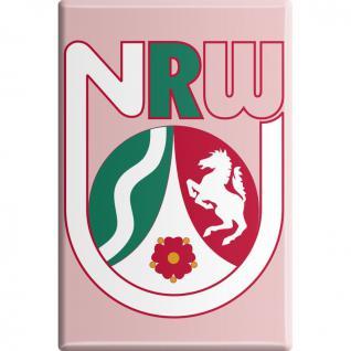 Kühlschrankmagnet - Wappen NRW - Gr. ca. 8 x 5, 5 cm - 38724 - Küchenmagnet