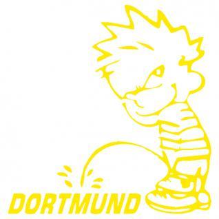 Pinkelmännchen-Applikations- Aufkleber - Dortmund - ca. 15 cm 303652 - gelb