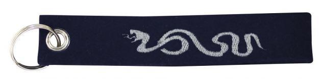 Filz-Schlüsselanhänger mit Stick Tattoo Schlange Gr. ca. 17x3cm 14172 schwarz