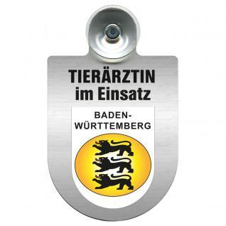 Einsatzschild für Windschutzscheibe incl. Saugnapf - Tierärztin im Einsatz - 309474-1 Region Baden-Württemberg