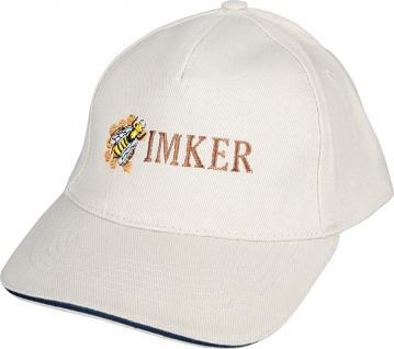 Basecap - Cap mit Imker - Stick - Imker Biene - 69009 weiss - Baumwollcap Baseballcap Schirmmütze Hut
