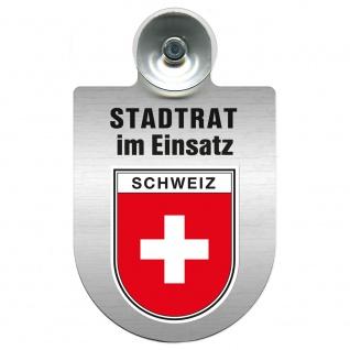 Einsatzschild Windschutzscheibe incl. Saugnapf - Stadtrat im Einsatz - 309394 Region Schweiz