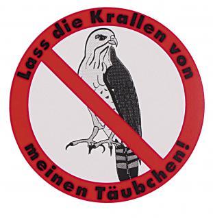 Auto-Aufkleber - lass die Krallen von meinem Täubchen - Taube - Gr. ca. 6 cm - TB758/1