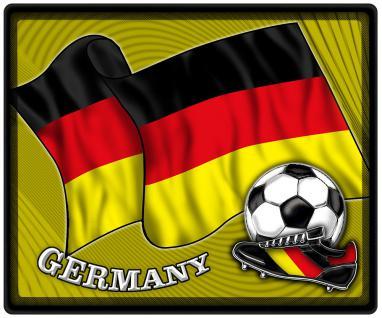 Mousepad Mauspad mit Motiv - Germany Fahne Fussball Fussballschuhe - 83040 - Gr. ca. 24 x 20 cm. ca. 24cm x 19, 5cm