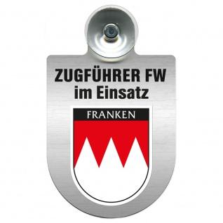 Einsatzschild Windschutzscheibe incl. Saugnapf - Zugführer Feuerwehr im Einsatz - 309749 - Region Franken