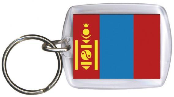 Schlüsselanhänger Anhänger - MONGOLEI - Gr. ca. 4x5cm - 81111 - Keyholder WM Länder
