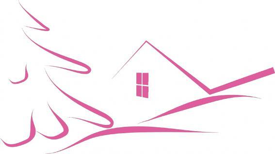 """Wandtattoo/ Dekorfolie mit Motiv """" stilisiertes Haus"""" Ø 90cm Länge max.100 cm, in 11 Farben WD0811 rosa"""