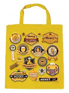 Umweltfreundliche Baumwolltasche - Allover- Aufdruck Honey- 08844