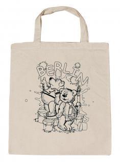 (06892-Tasche) Umweltfreundliche Baumwoll - Tasche, ausmalbar , ca. 28 x 43 cm mit Aufdruck? Berlin?