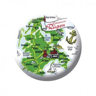 Magnet - Ostseeinsel Rügen - Gr. ca. 5, 7 cm - 16037 - Küchenmagnet