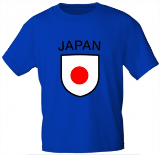 Kinder T-Shirt mit Print - Japan - 76072 blau Gr. 110/116