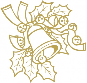 Wandtattoo Dekorfolie Weihnachtsglocke WD0801 gold / 120cm