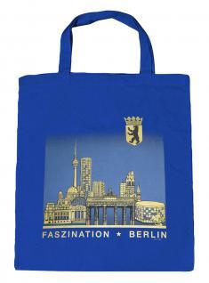 (09417-Tasche) Umweltfreundliche Baumwoll - Tasche , ca. 28 x 43 cm mit Aufdruck? Berlin?