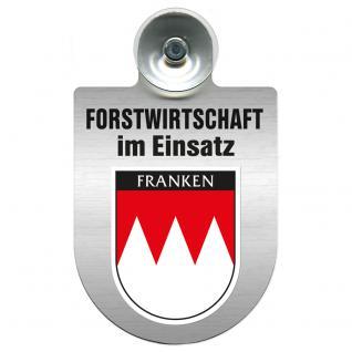 Einsatzschild Windschutzscheibe incl. Saugnapf - Forstwirtschaft im Einsatz - 309372-18 - Region Franken
