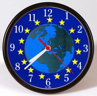 Wanduhr - Uhr - Clock - batteriebetrieben - Weltkugel - Globus - Größe ca 25 cm - 56820