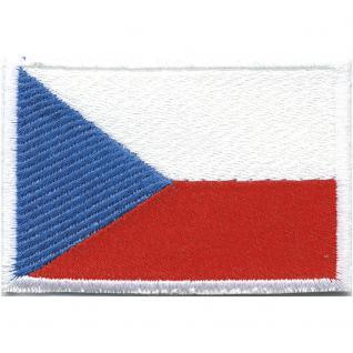 Aufnäher Länderfahne Flagge - Tschechien - 20465 Gr. ca. 80x50mm