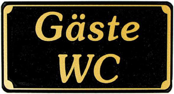 Toilettenschild - Gäste WC - 150 x 75 mm - 308058
