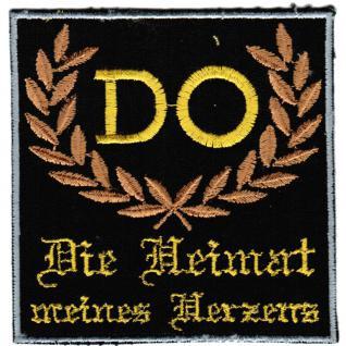 AUFNÄHER - Dortmund - Die Heimat meines Herzens - 20614 - Gr. ca. 8, 5 x 8, 5 cm - Patches Stick Applikation