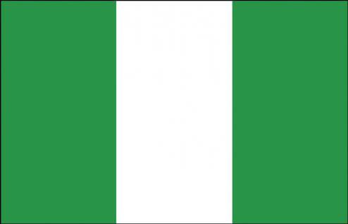 Schwenkflagge mit Holzstock - Nigeria - Gr. ca. 40x30cm - 77121 - Länderflagge, Stockländerfahne