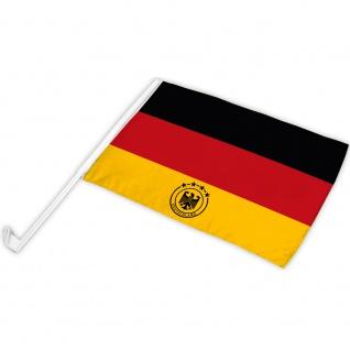 Autofahne Flagge Fan-Fahne Deutschland Adler 4 Sterne - 77515