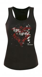 "(T10835) Tank- Top mit edlem Aufdruck "" True Love"" M"