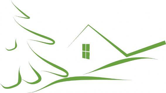 """Wandtattoo/ Dekorfolie mit Motiv """" stilisiertes Haus"""" Ø 90cm Länge max.100 cm, in 11 Farben WD0811 grün"""